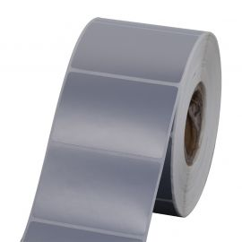 Polyester labels Silver for ( GK420T, GX420T, ZT220T, B-ev4t, GC420T, TTP-247 )-BYPOS-7002